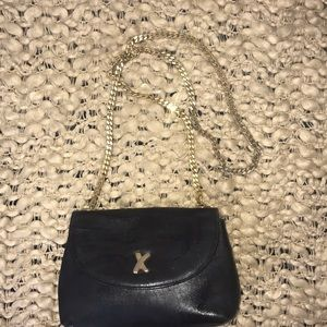 Paloma Picasso Small Black leather purse Chain